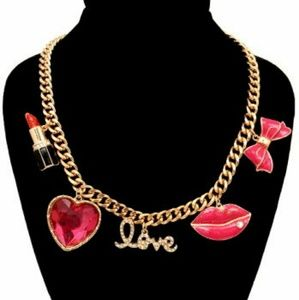 Jewelry - Pink Cosmetic Charm Necklace